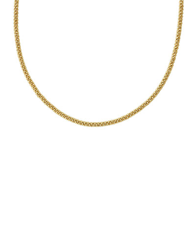 3mm 18K Gold Caviar Rope Necklace  16L