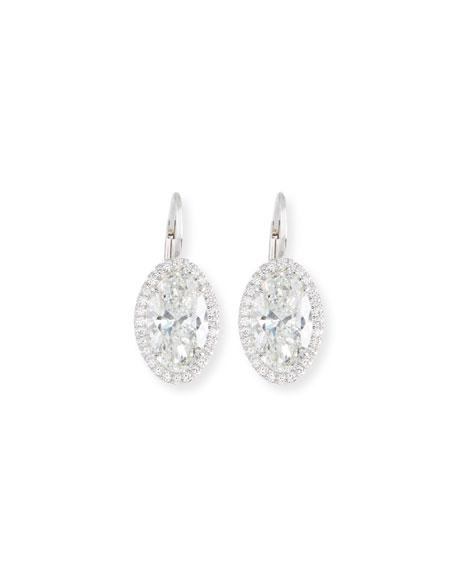 Rahaminov Diamonds For Forevermark Oval Cut Diamond Drop Earrings In 18k White Gold Neiman Marcus