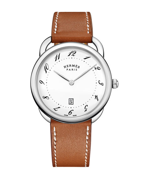 Hermès Arceau Watch with Leather Strap