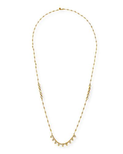 Kundan Diamond Teardrop Station Necklace