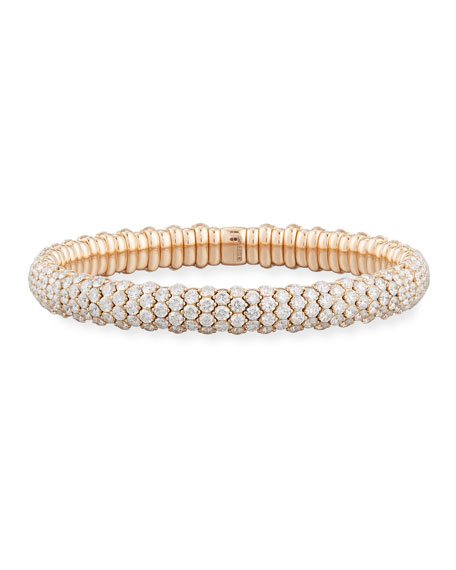 Slim Diamond Stretch Bracelet in 18K Rose Gold, 10.49 tdcw