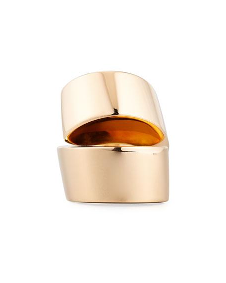 Kiss 18K Yellow Gold Band Ring