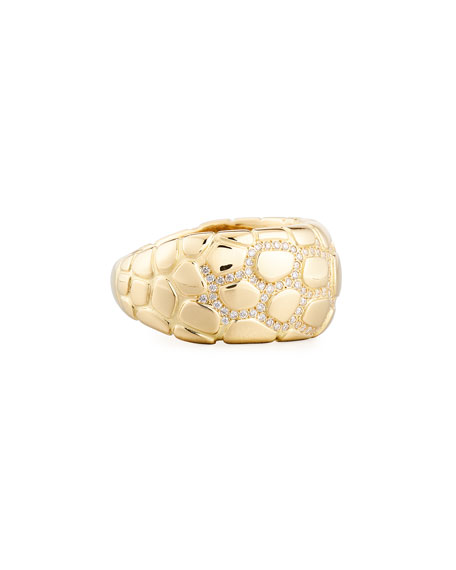 Anaconda 18K Gold Ring with Diamonds