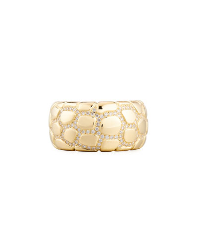 Anaconda 18K Gold Ring with Diamonds, Size 7.25