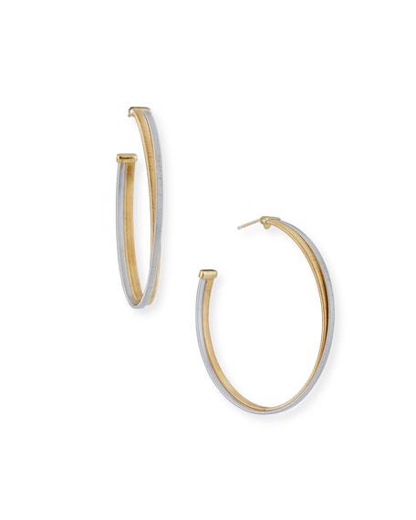 Marco Bicego Masai Large 18K White & Yellow Gold Hoop Earrings