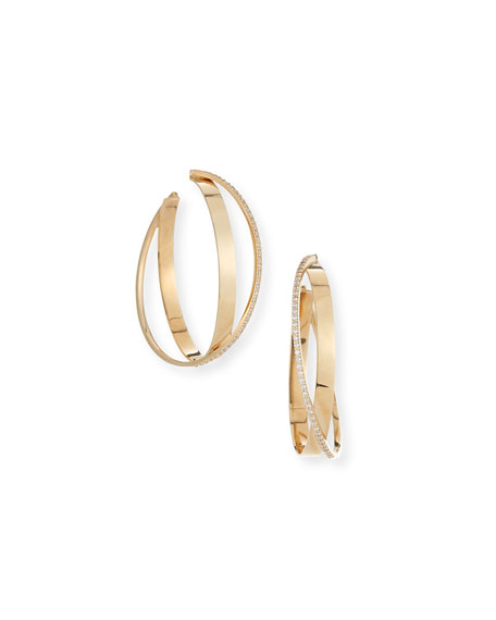 Lana Flawless Bond Diamond Twist Hoop Earrings