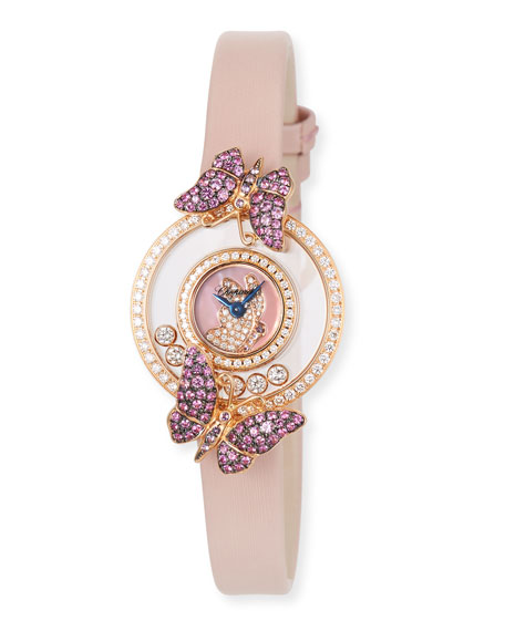 Chopard Happy Diamond Butterfly 18k Rose Gold Amethyst