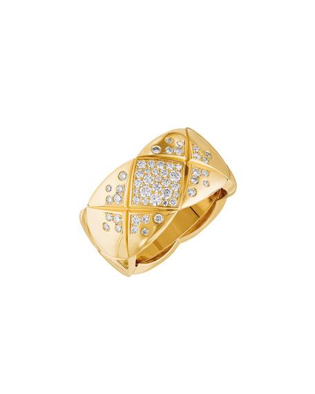 COCO CRUSH RING IN 18K YELLOW GOLD & DIAMONDS, MEDIUM VERSION