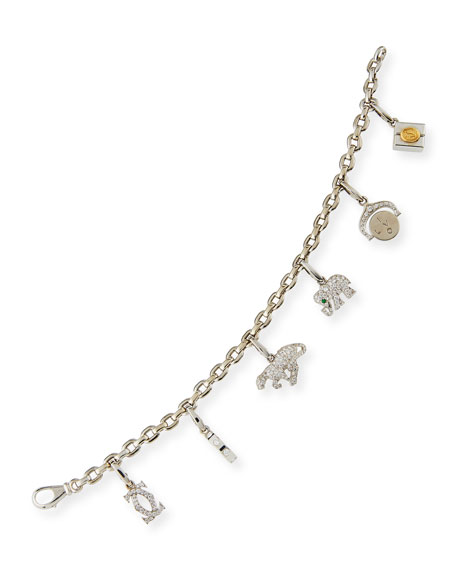 NM Estate Estate Cartier Charm Bracelet with Diamonds