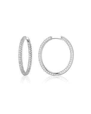 167c811eb American Jewelery Designs Pave Diamond Hoop Earrings