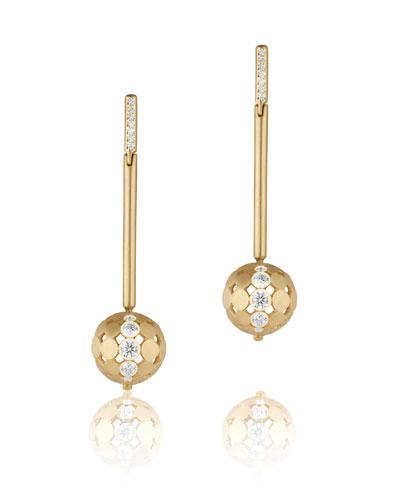 Disco Dots Diamond Stick Drop Earrings