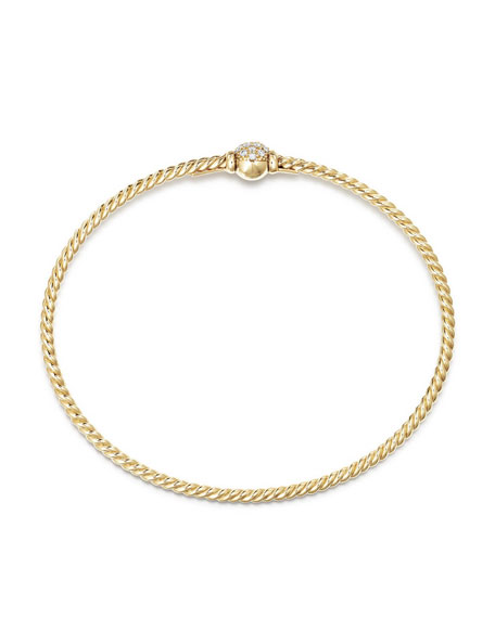 Image 2 of 2: David Yurman Petite Solari Diamond Single Station Bracelet, Size M
