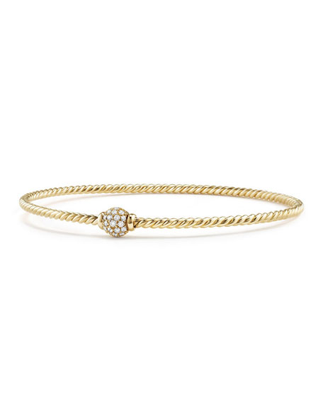 Image 1 of 2: David Yurman Petite Solari Diamond Single Station Bracelet, Size M