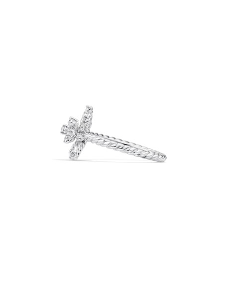 Image 3 of 4: David Yurman 14mm Supernova 18K White Gold Ring with Diamonds, Size 6