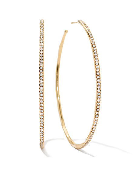 Ippolita Stardust #4 XL Diamond Hoop Earrings in