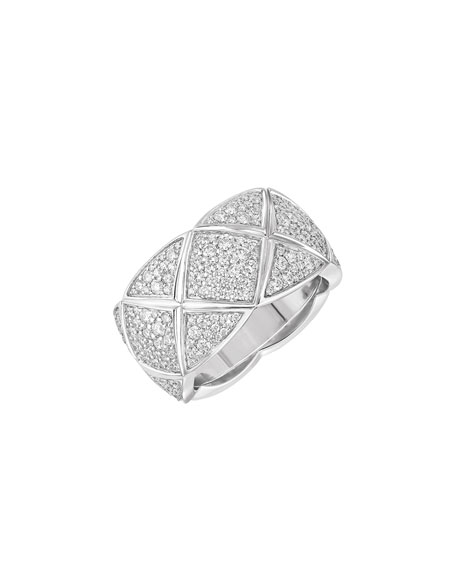 COCO CRUSH RING IN 18K WHITE GOLD & DIAMONDS, MEDIUM VERSION