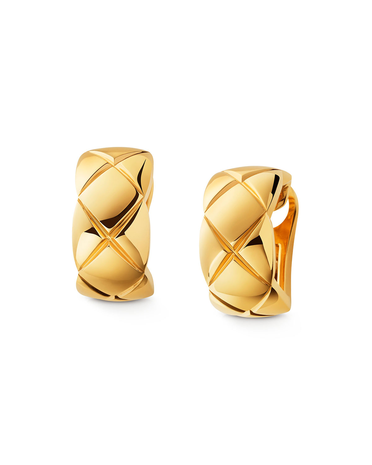 Chanel Coco Crush Earrings In 18k Yellow Gold