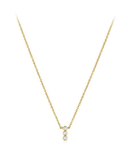 Legend Amrapali Tarakini Three-Diamond Pendant Necklace