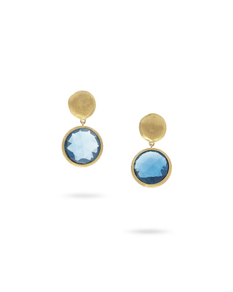Marco Bicego Jaipur Drop Earrings with London Blue Topaz HTkzCV11
