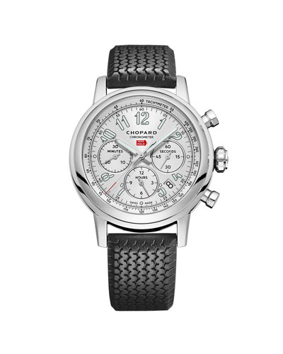 42mm Racing Mille Miglia Classic Chronograph Watch with Tire Strap