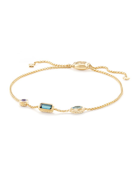 Image 1 of 4: David Yurman Novella 18k Chain Bracelet, Multicolor