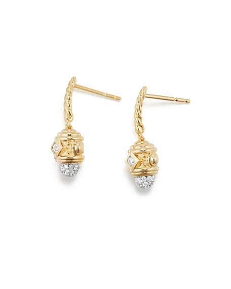 Renaissance Small 18k Gold Diamond Drop Earrings