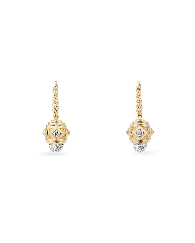 926b4e7513202 David Yurman Renaissance Small 18k Gold Diamond Drop Earrings ...