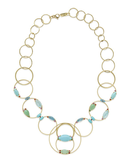 18k Prisma Multi-Circle Link Necklace in Portofino and