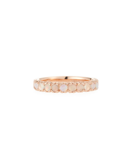 Stevie Wren 14k Rose Gold Opal Ring, Size 7