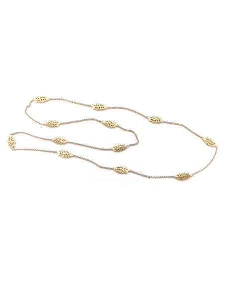 Miseno Sealeaf Collection 18k Gold Long Necklace
