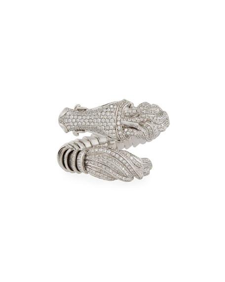 18k Diamond Pave Horse Ring, Size 6.5