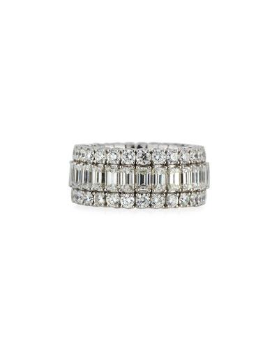 18k Expandable Mixed-Cut Diamond Ring, 8.64 tcw