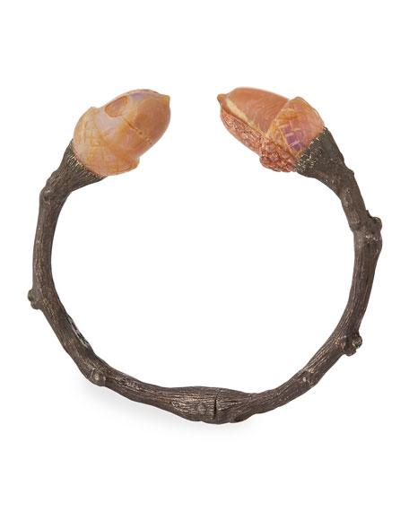 K Brunini Large Twig Cuff Bracelet w/ Acorn Opals