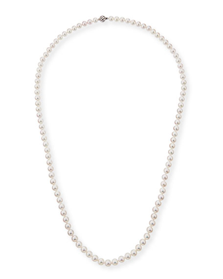 Belpearl 18k Single-Strand Akoya Pearl Necklace, 8.5mm