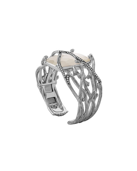 Image 2 of 2: Michael Aram Enchanted Forest Twig Crossover Bangle w/ Mother-of-Pearl