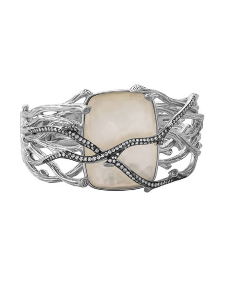 Image 1 of 2: Michael Aram Enchanted Forest Twig Crossover Bangle w/ Mother-of-Pearl