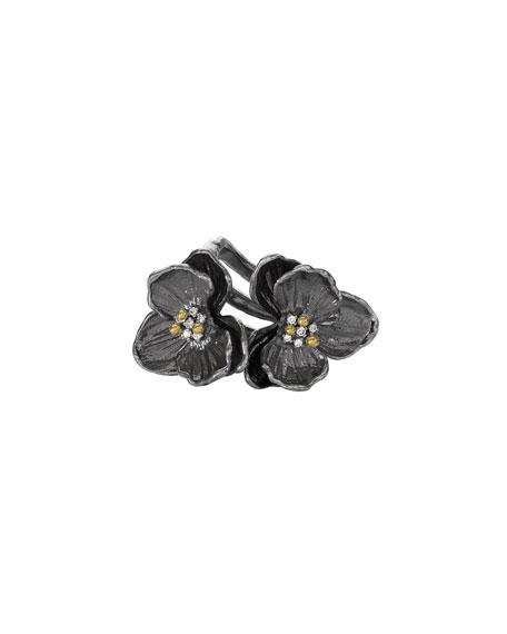 Michael Aram Double Orchid Ring w/ Diamonds
