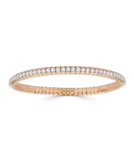 ZYDO 18k Rose Gold Stretch Diamond Bracelet, 3.8tcw