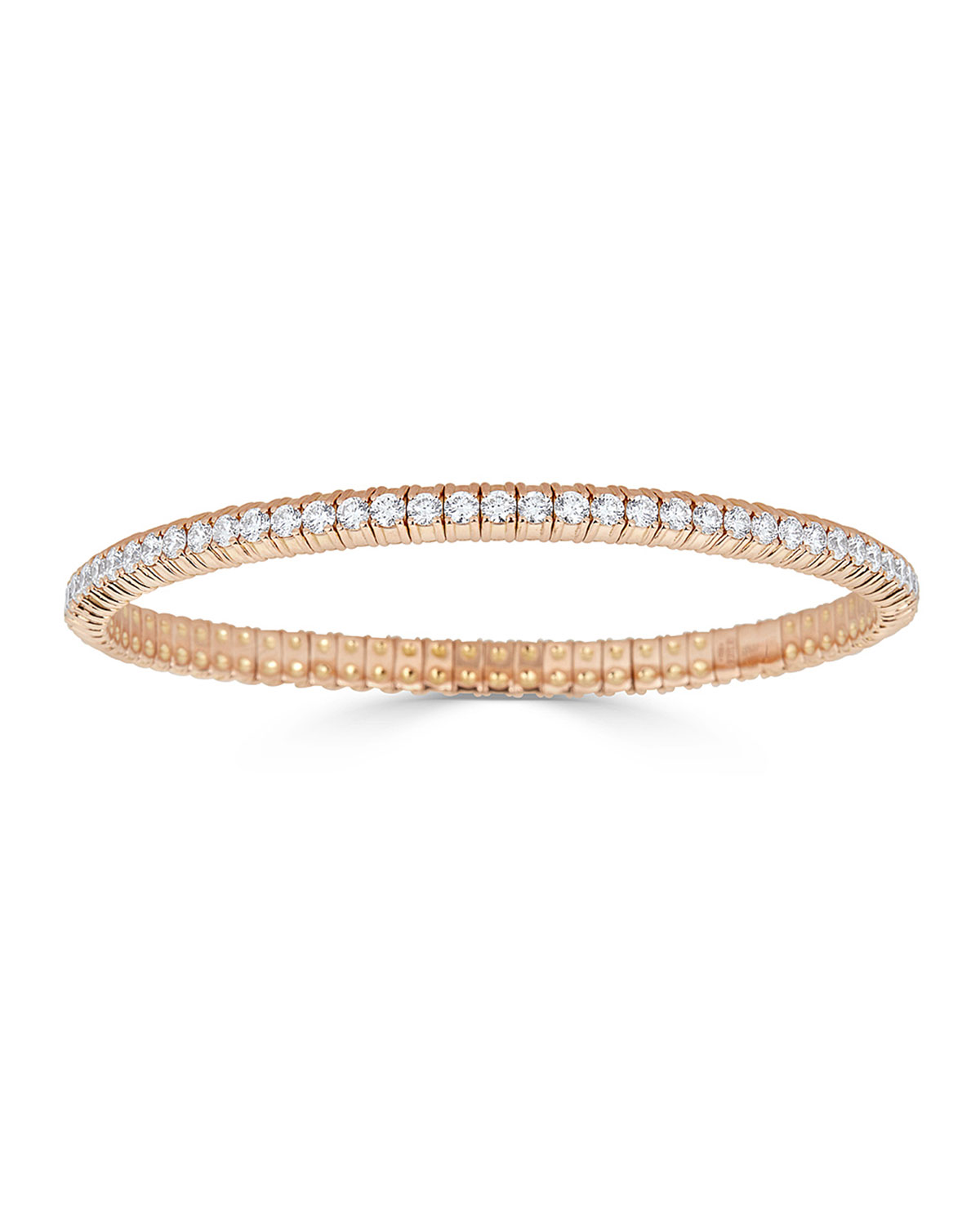 ZYDO 18k Rose Gold Stretch Diamond Bracelet, 3.8tcw