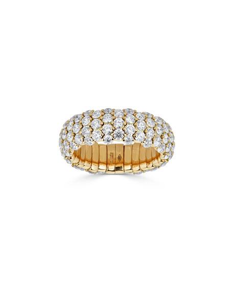 ZYDO 18k Yellow Gold Diamond Stretch Ring, Size 6.5