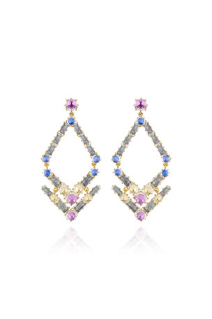 Larkspur & Hawk Caterina Trapezoid Chandelier Earrings, Multi