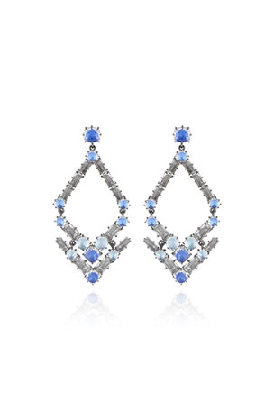 Larkspur & Hawk Caterina Trapezoid Earrings, Blue