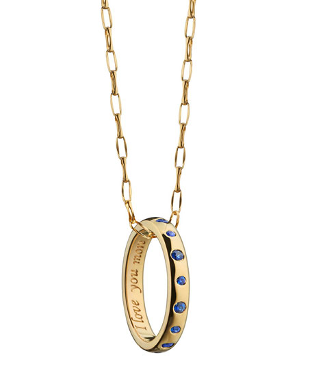 Monica Rich Kosann Sapphire Posey Ring Necklace, 17