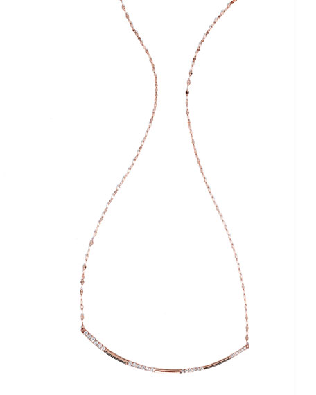 Expose Diamond Pendant Necklace in 14k Rose Gold