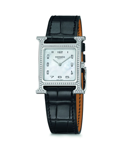 Heure H Watch  Stainless Steel & Alligator Strap