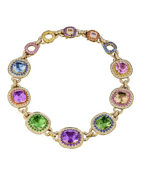 18k Gold Multi-Stone Collar Necklace