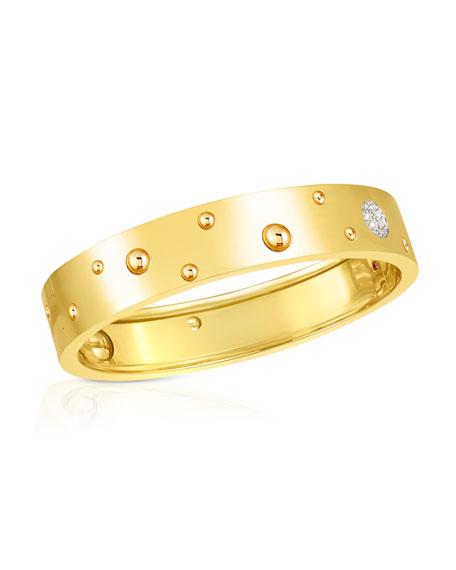 Roberto Coin Pois Moi Luna 18k Yellow Gold Bangle