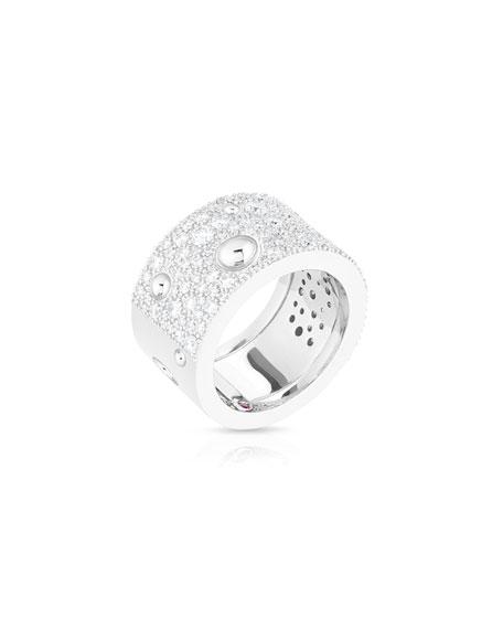 Roberto Coin Pois Moi Luna 18k White Gold Diamond Ring, Size 6.5
