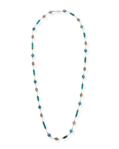 Margo Morrison Long Blue Stone Necklace