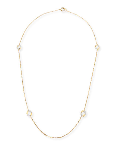 Verdura 18k Gold Curb Link Necklace with Diamonds